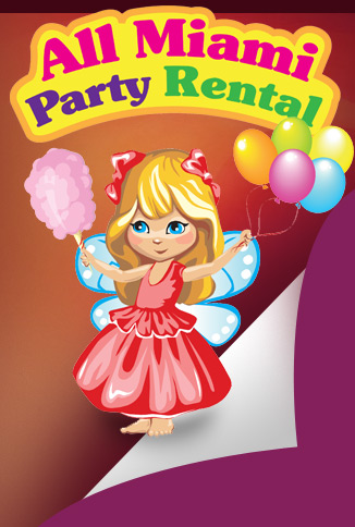 Miami Party Rental, Bounce Houses and Moonbounce, Slides and Combos, Tents, Tables and Chairs, Decorations, Fun, Games, Clowns and More!